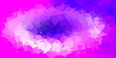 Light purple, pink vector geometric polygonal design.