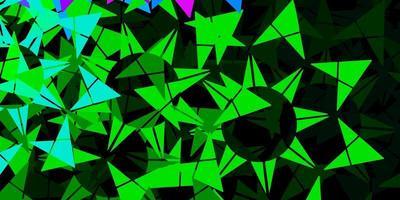 textura de vector azul claro, verde con estilo triangular.