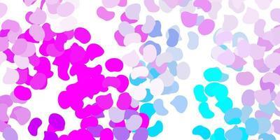 textura de vector rosa claro, azul con formas de memphis