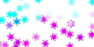 Light pink, blue vector texture with disease symbols