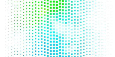 Light Blue, Green vector background with rectangles.