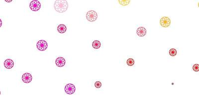 Light Pink, Yellow vector background with bubbles