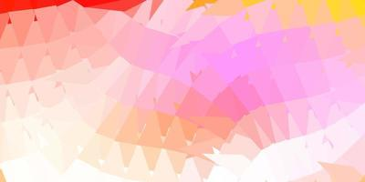 Light pink, yellow vector triangle mosaic pattern.