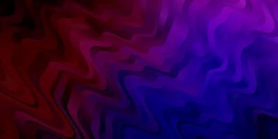 textura de vector azul oscuro, rojo con líneas torcidas.