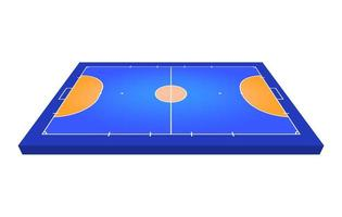 Perspective view Field for futsal. Orange Outline of lines futsal field Vector illustration.