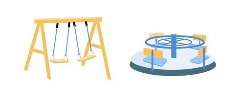 Playground equipment objects set vector