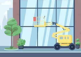 ilustración plana calle de la ciudad vacía vector