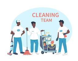 personajes de negocios de limpieza vector