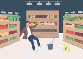 ilustración de cliente de tienda que cae vector
