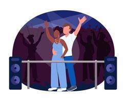 Club concert 2D vector web banner, poster