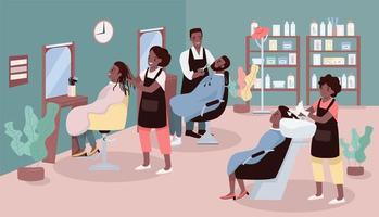 Beauty parlor flat color vector illustration