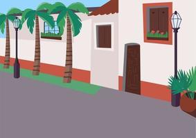 Ilustración de vector de color plano de acera mexicana