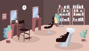 Ilustración de vector de color plano de salón de belleza