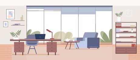 ilustración plana de la oficina corporativa vector