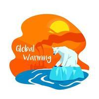 banner de web de vector 2d de contaminación de cambio climático