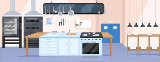 Modern kitchen flat illustration vector