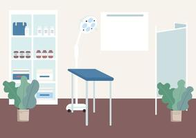Gynecologist cabinet flat color vector illustration