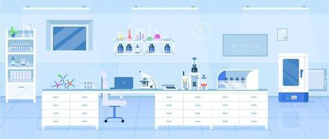 ilustración de laboratorio de química vector
