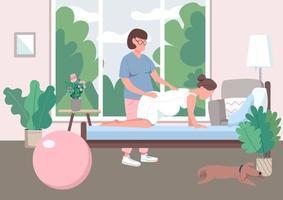 Midwifery flat color vector illustration