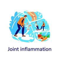 Ilustración de vector de concepto plano de artritis