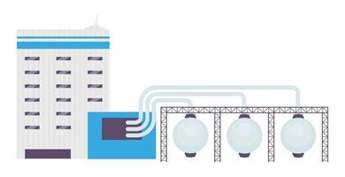 Industrial pipeline cartoon vector illustration