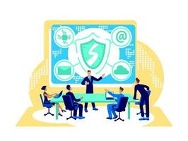 Cyber security flat concept vector illustration flat concept vector illustration