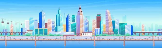 Ilustración de vector de color plano de metrópolis