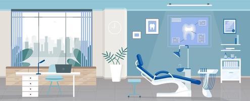 Ilustración de vector de sala dental