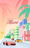 Florida streets poster template vector