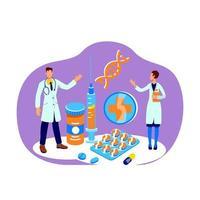 Medicine flat concept vector illustration