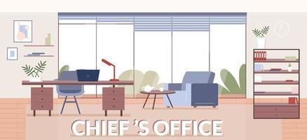Chiefs office banner flat vector template