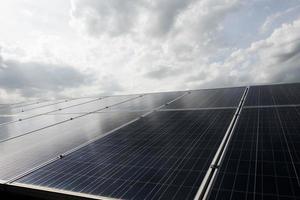 Solar cell farm power station
