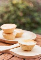 Mini pies on a plate and tray