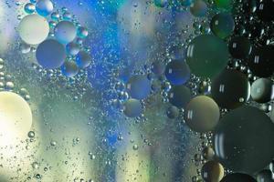 Fondo macro abstracto de aceite y agua foto
