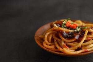 Italian pasta with sauce
