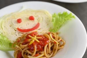 Italian pasta with sauce photo