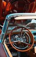 Englewood, United States, 2020 - Close-up of a classic car