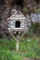 White wooden birdhouse