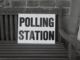 signo de la mesa de votación foto