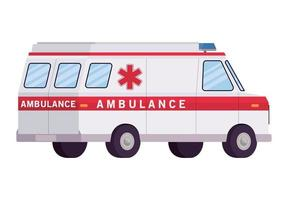 Ambulance paramedic car side view vector design