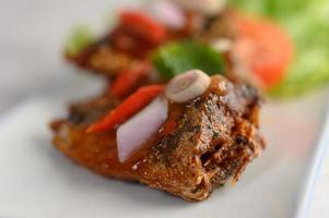 Spicy sardine appetizer