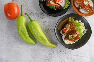 Spicy canned sardine appetizer