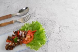 Appetizers with spicy sardines