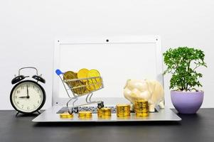 Concept of financial growth with coins