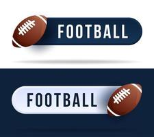 Football toggle switch buttons. vector