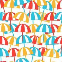 Colorful beach umbrellas seamless pattern. Summer background. Vector illustration