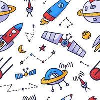 espacio de diseño de impresión de patrones sin fisuras. diseño de ilustración de vector de doodle para telas de moda, gráficos textiles, estampados.