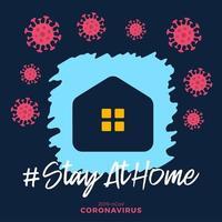 coronavirus escrito en diseño de cartel de tipografía. salvar el planeta del virus corona. mantente a salvo, quedate dentro de casa. prevención de virus.