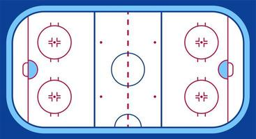 Vector of ice hockey rink. Textures blue ice. Ice rink. top view. Vector illustration background.