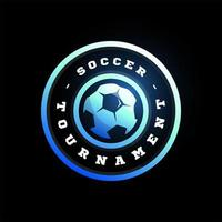 Football Soccer Circular Vector Logo. Modern Professional Typography Sport Retro Style Vector Emblem and Template Logotype Design. Football Colorful Logo